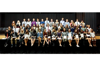 National Honor Society inducts school-record 60 students in 2018