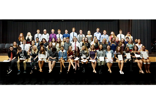 National Honor Society Inductees 2018