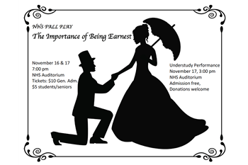 NHS drama presents The Importance of Being Earnest this weekend
