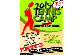 Elementary tennis camp set for July 8-12