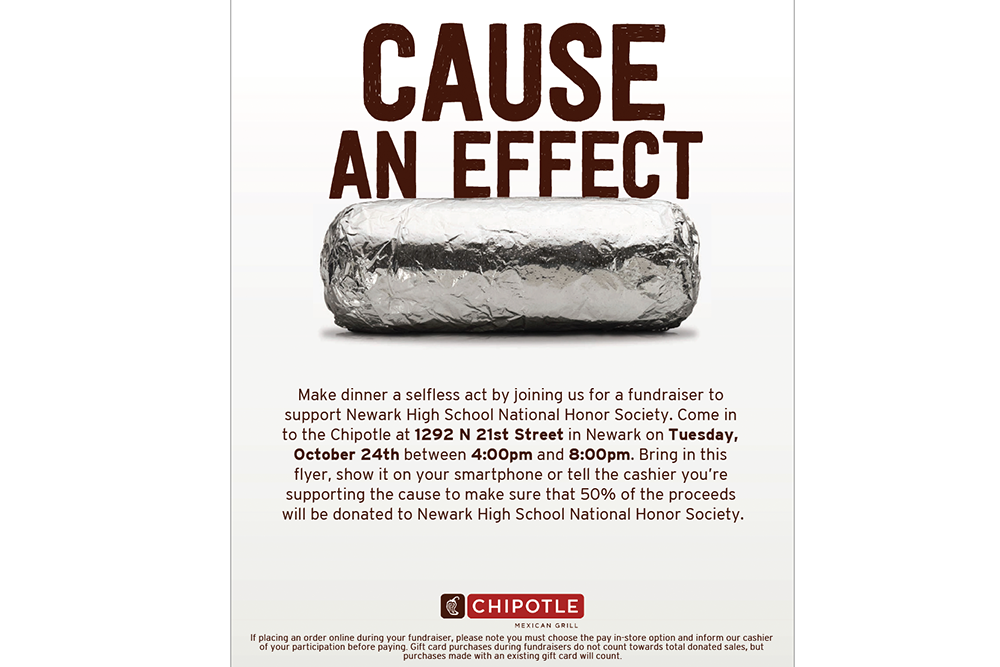National Honor Society Chipotle Fundraiser