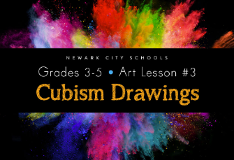 Art, grades 3-5, week 3: Cubism drawings