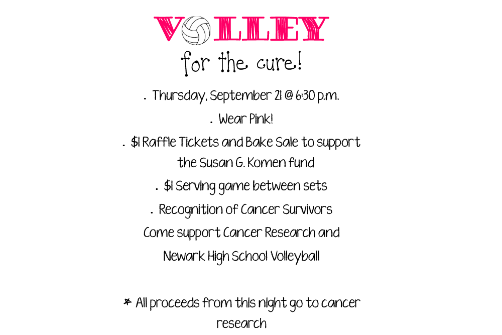 Volley for the Cure on September 21