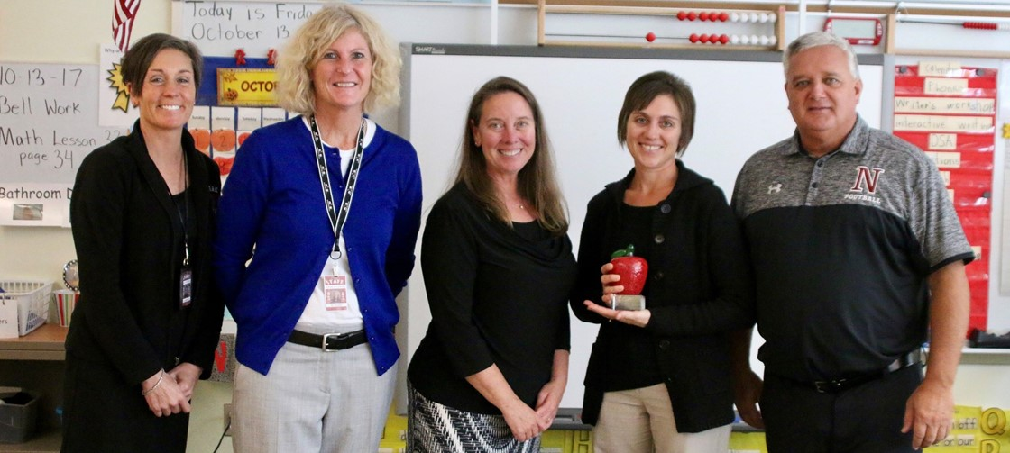 Lori Schultz, 2nd from the right, 1st grade teacher at McGuffey, is a 2017 Leaders for Learning Award Recipient