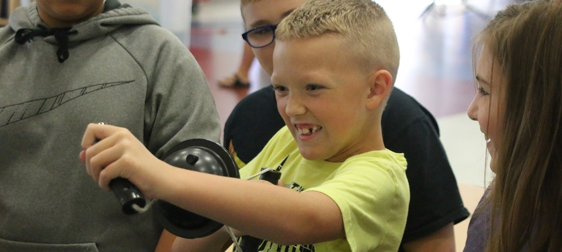 COSI on Wheels recently visited John Clem Elementary to teach students about the weather