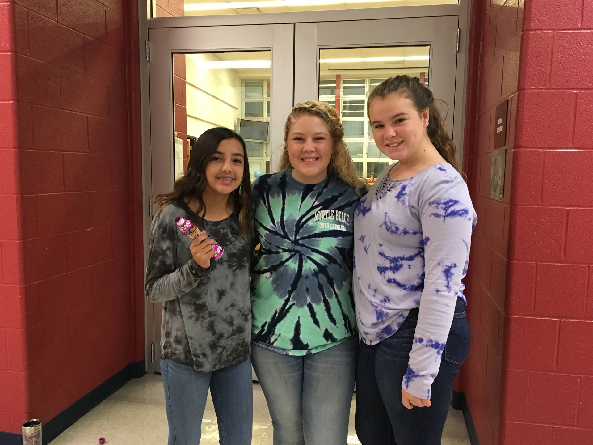 Junior Honor Society collecting for dress down day