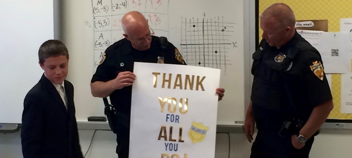 Heritage students celebrate Officer Appreciation Day