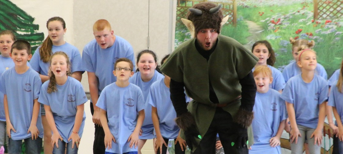 Carson Choir got to sing part of Billy Goats Gruff with Opera Columbus during a recent visit to the school