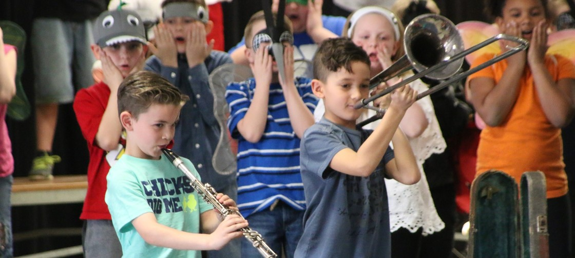 John Clem 2nd grade recently performed Swamped!