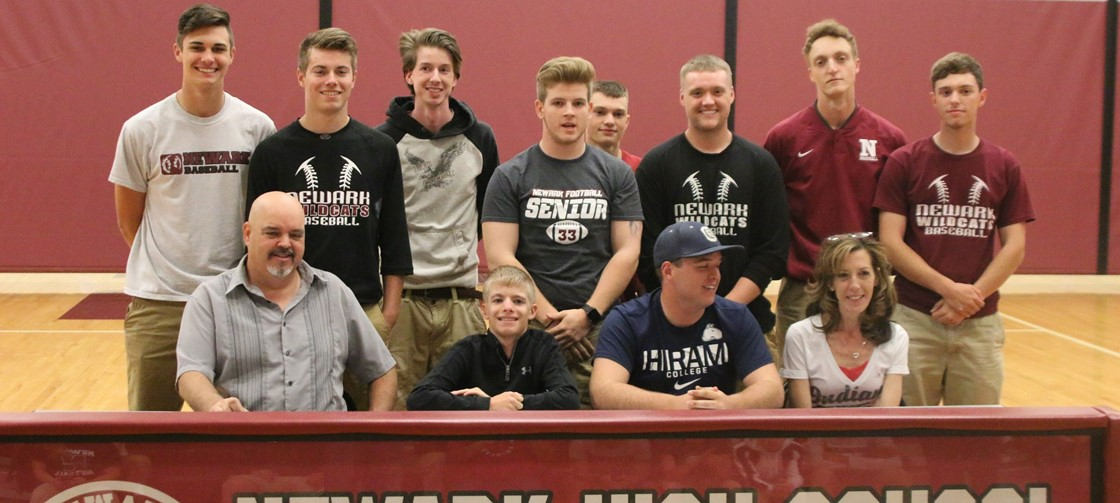 NHS Senior Parker Emerine will continue his schooling and baseball career at Hiram College