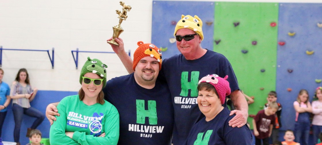 Hillview Elementary raised $550 for Relay Recess during Human Hungry Hippos fundraiser