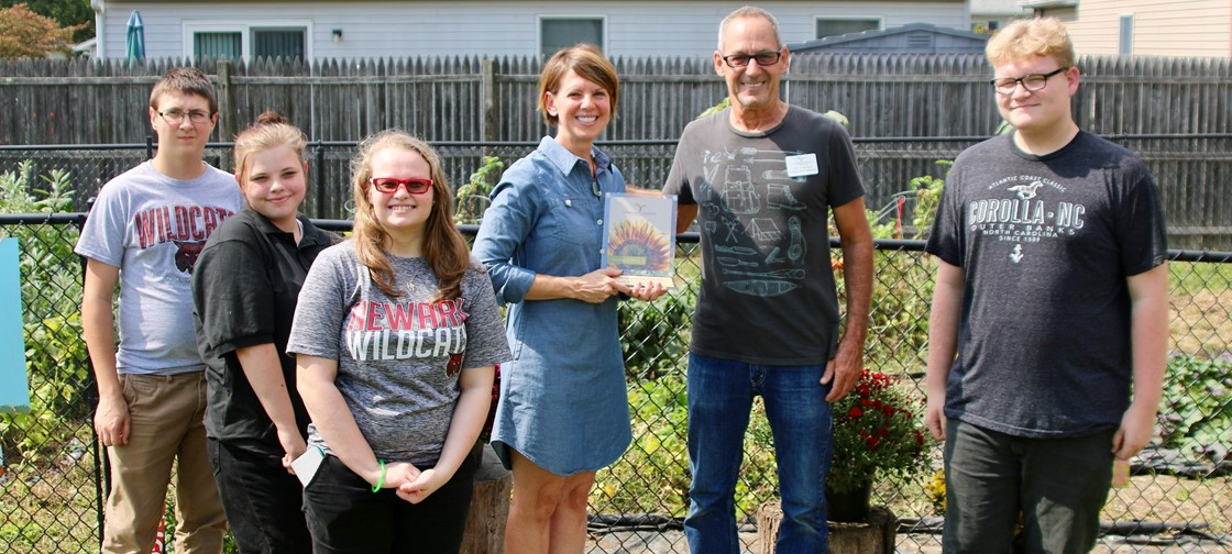 Newark Sanctuary Garden at NHS was named the Franklin Park Conservatory's Ohio Educational Garden of the Year