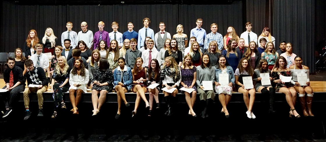 National Honor Society inductees, 2018