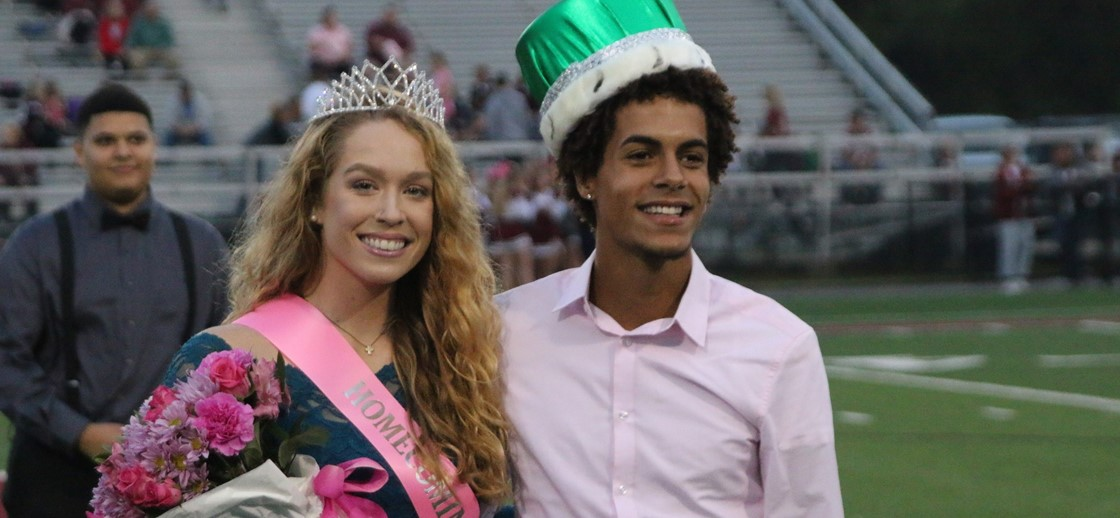 Homecoming King and Queen, Monte Street and Katie Pound
