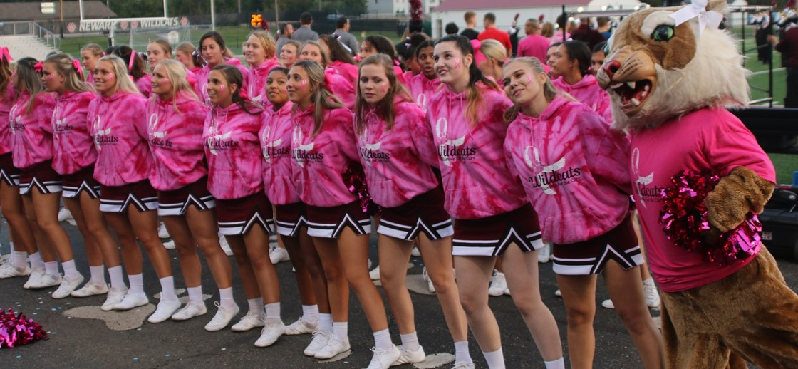 NHS cheerleaders on Rumble for the Cure Night