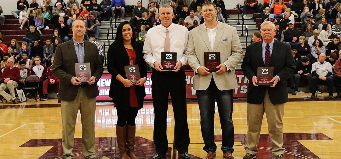 2018 Newark High School Athletic Hall of Fame Inductees. Photo credit: S&F Photography.