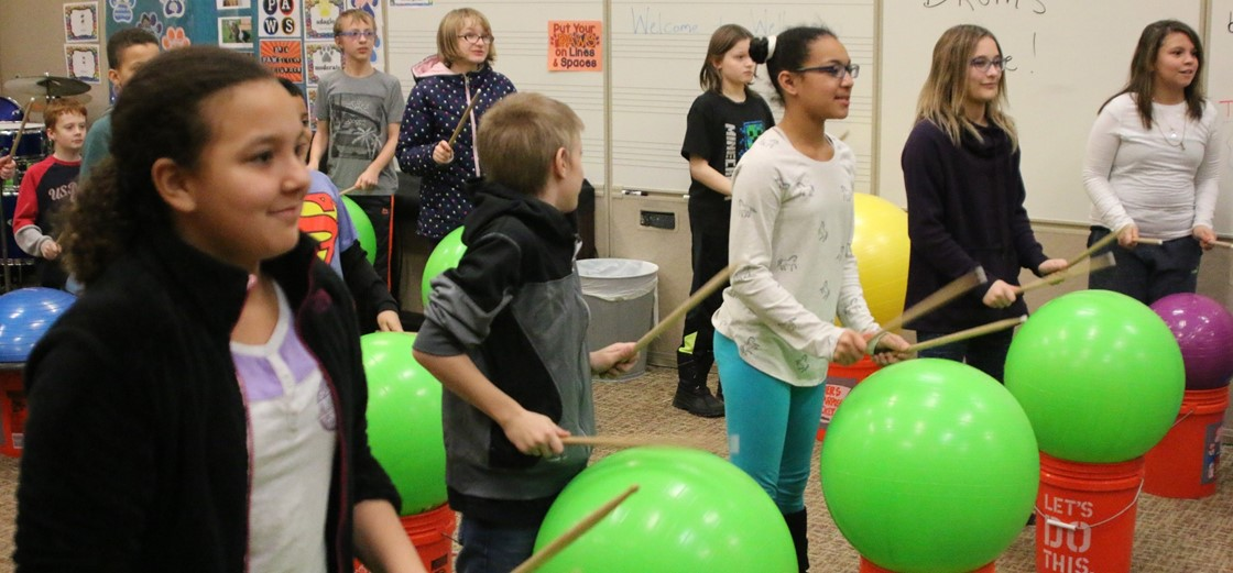 Music therapy at Cherry Valley during social, emotional awareness day