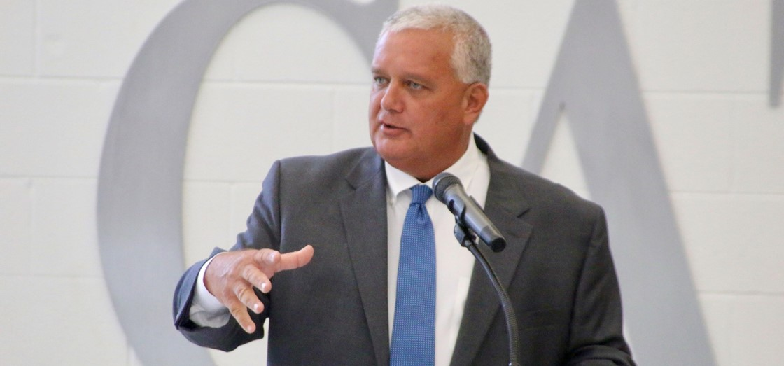 Superintendent Doug Ute was installed as the president of the Buckeye Association of School Administrators