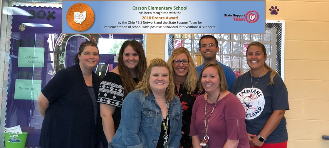 Carson Elementary won the PBIS Bronze Award