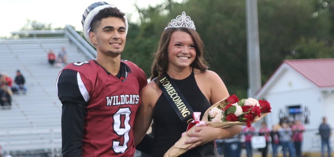 NHS Homecoming King Louis Cook and Queen Kennedy Shaner