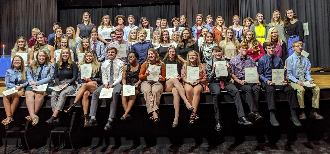 National Honor Society new members 2019