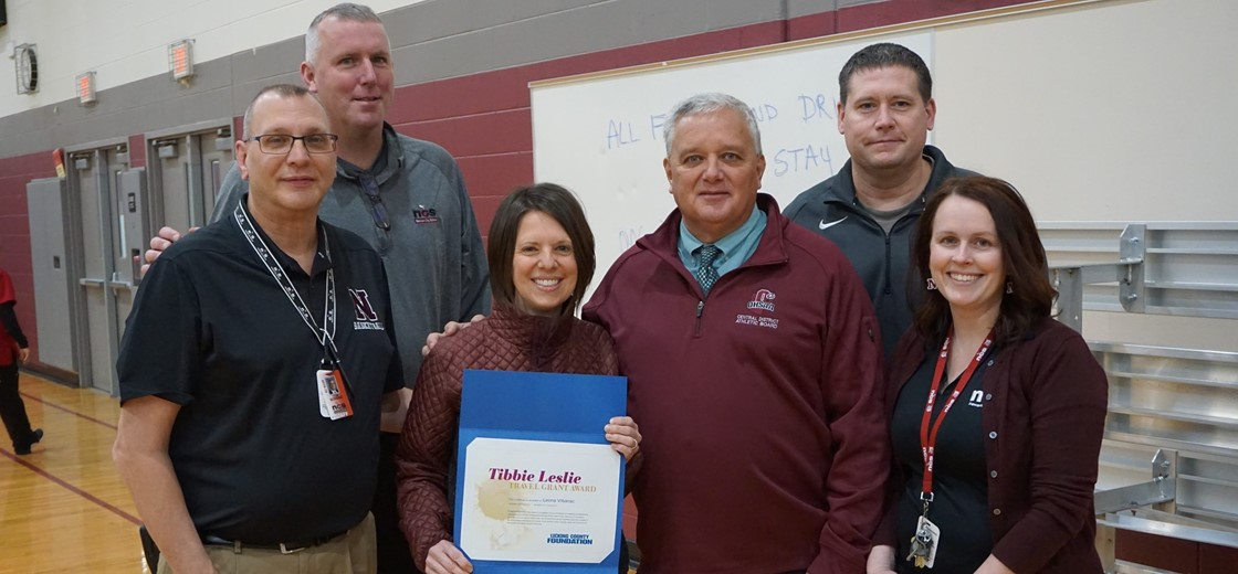 NHS Teacher Leona Vrbanac received a Tibbie Leslie Travel Grant from the Licking County Foundation
