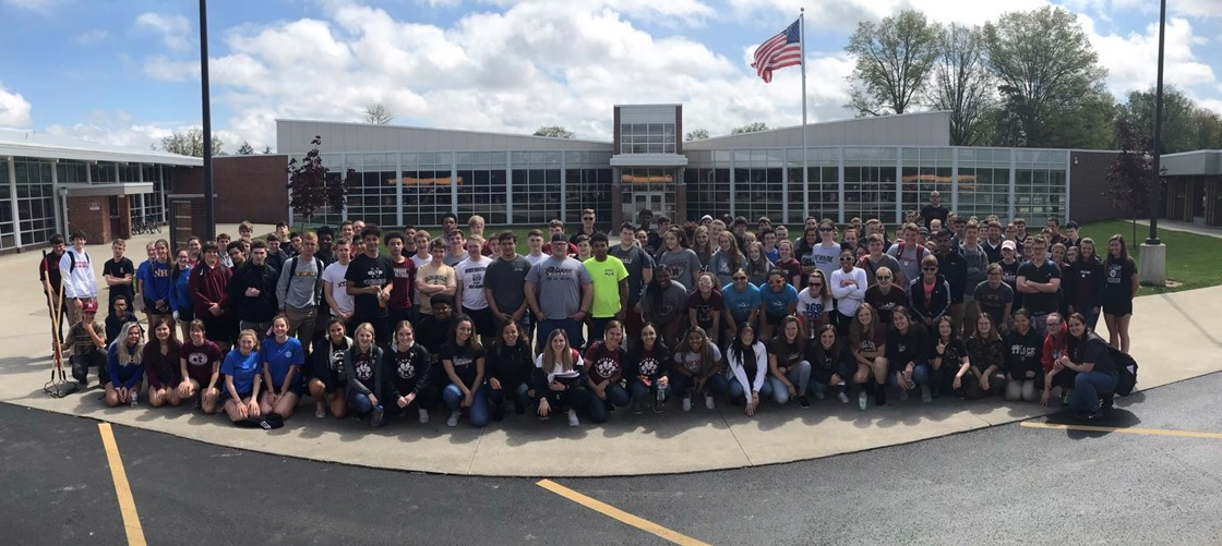 More than 100 students gathered to beautify community parks and paths for the annual NHS Community Clean-Up Day