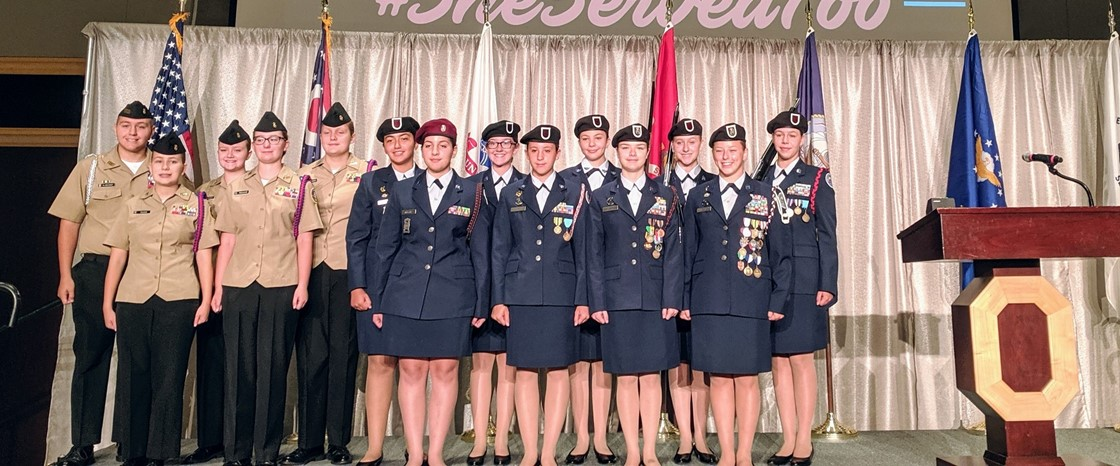 Members of the NHS Jr. ROTC recently participated in the Ohio Women's Veterans' Conference held at Ohio State