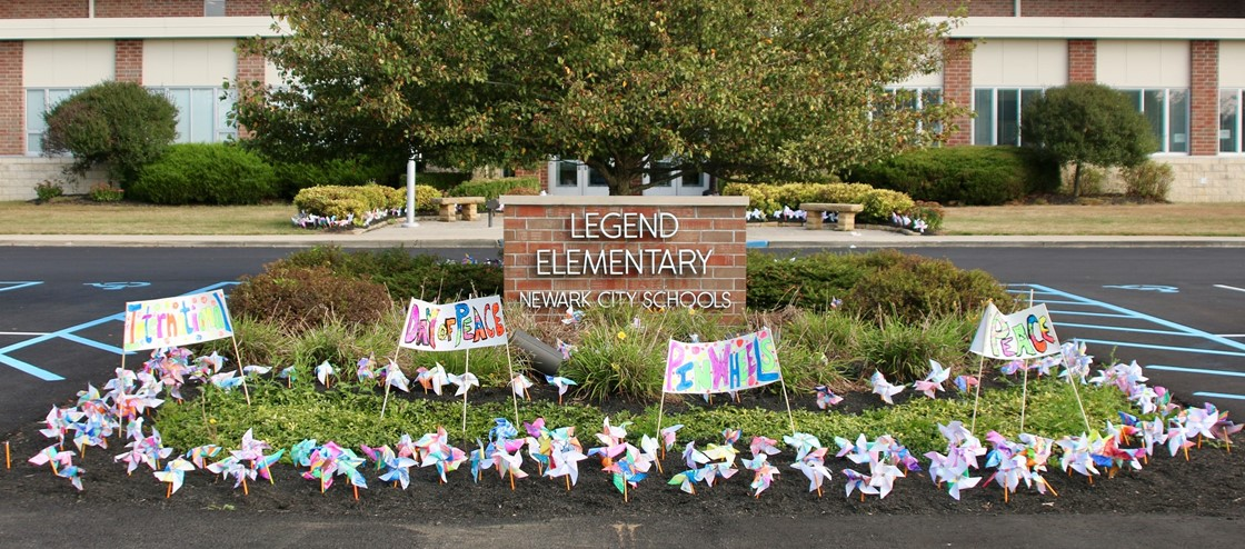 Legend Elementary Pinwheels for Peace