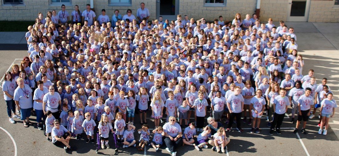 All-school photo, September 2019
