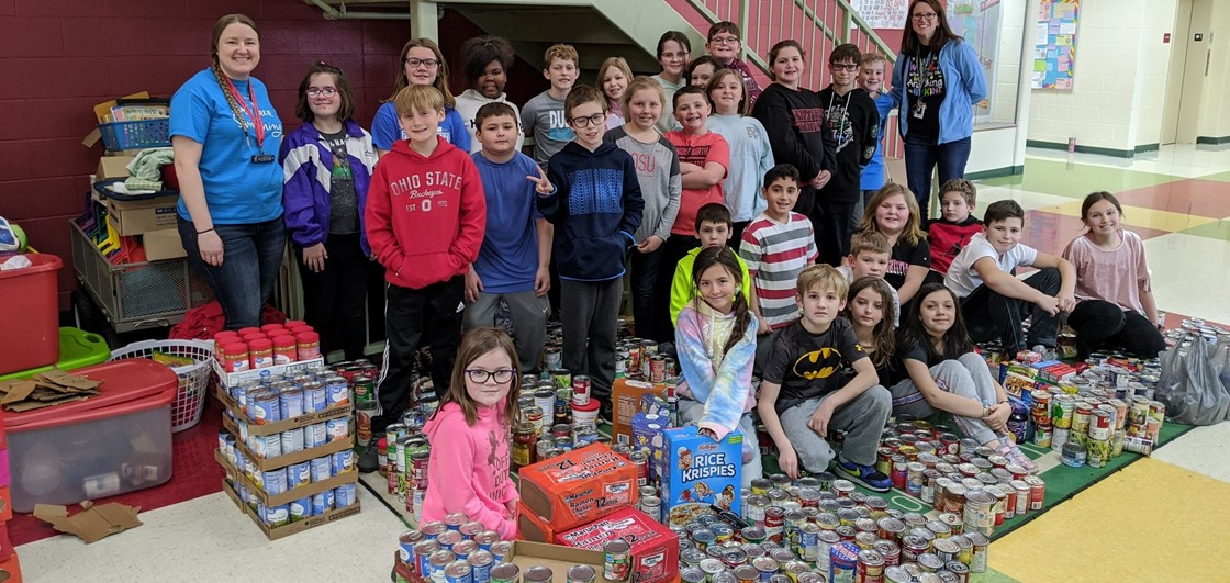 Cherry Valley student leadership led the annual Soup-er Bowl, raising 1,700+ food items for the food pantry
