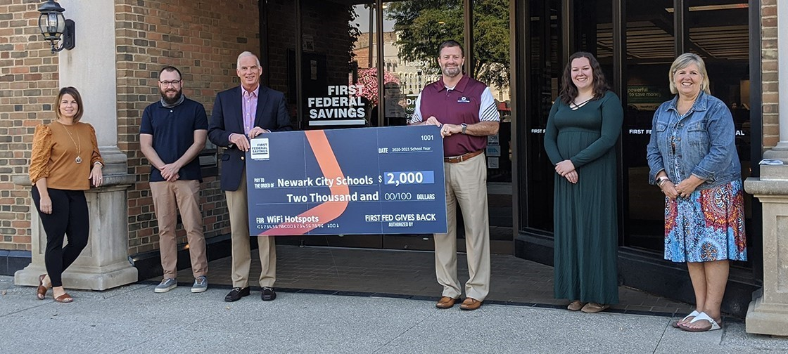 Thank you to First Federal Savings for your generous donation that will help our students with technology access.