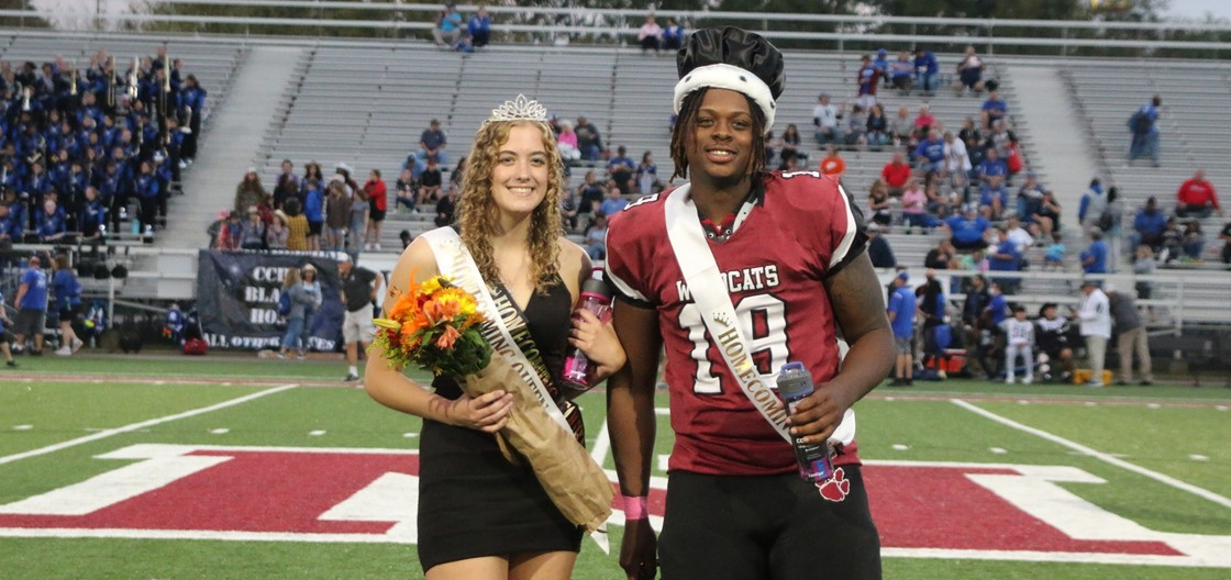 NHS Homecoming Queen Gabrielle Wolfe and King Kamar Davis
