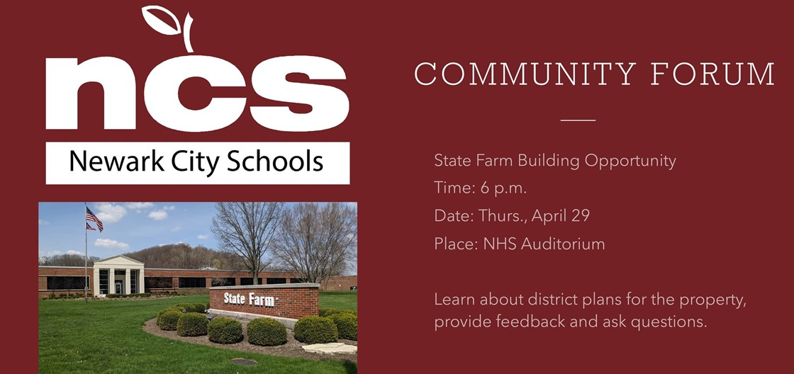 Community Forum at 6 p.m. on April 29 at NHS auditorium