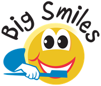 """Smiley face with """"Big Smiles"""" above"""